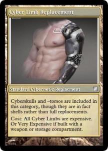Cyber Limb Replacement