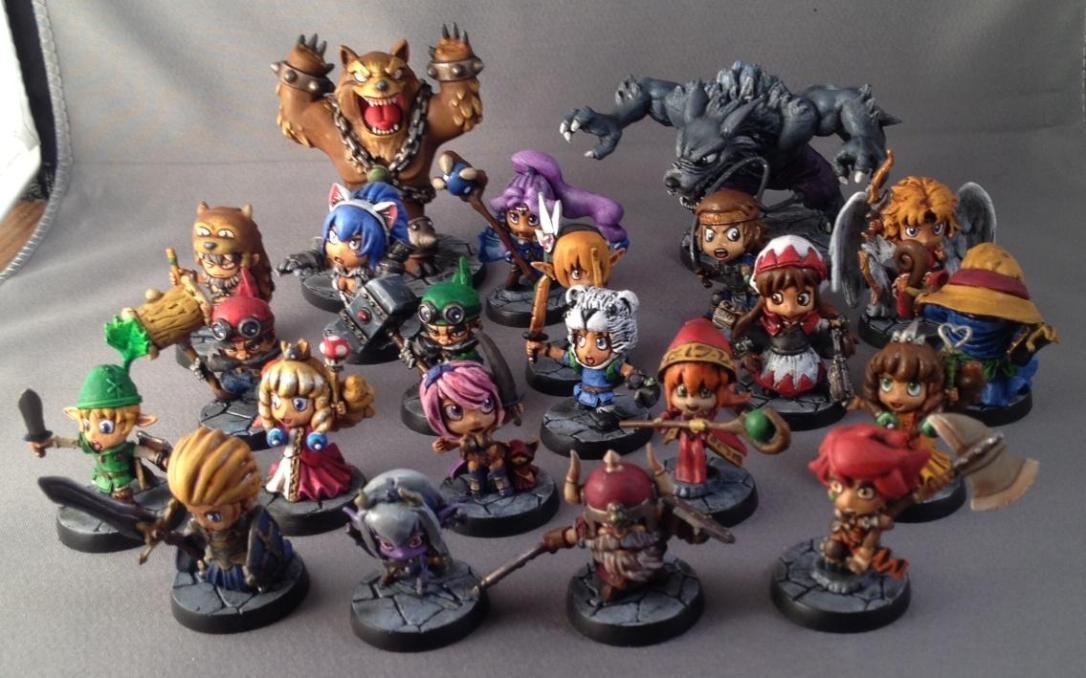 538076-Chibi, Cute, Group, Hero, Sde, Sodapop, Super Deformed, Super Dungeon Explore