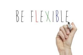 Hand writing be flexible